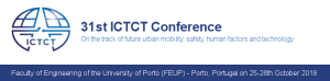 31st ICTCT Conference - On the track of future urban mobility: safety, human factors and technology